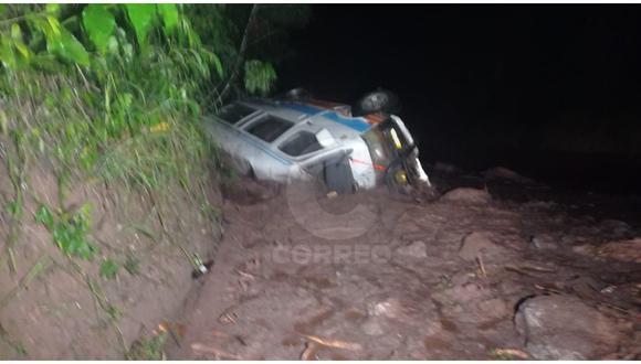 Iban de Satipo a Chanchamayo cuando en una curva se desbordó una quebrada que provocó el deslizamiento