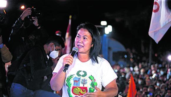 Candidata presidencial señaló a sus seguidores que están pendientes las actas observadas y pedidos de nulidad.