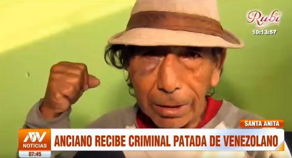 Anciano (Foto: Captura ATV Noticias)