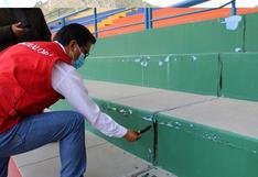 Estadio IPD de Huancavelica  no está concluido y presenta serios daños