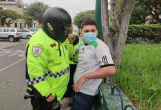 Conductor informal volcó mototaxi en su intento por evadir operativo en Surco