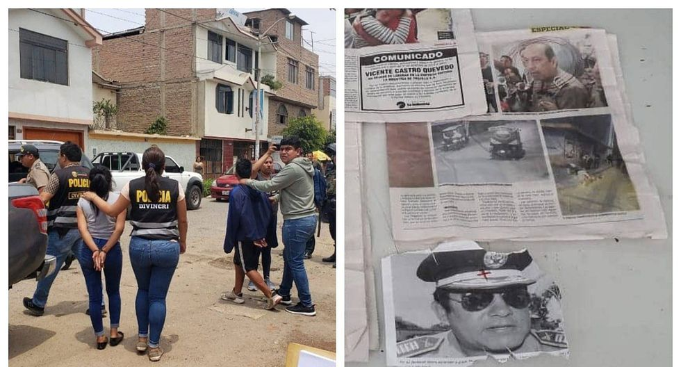 Extorsionadores caen con fotografías de jefes policiales