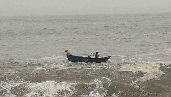 Ladrones se lanzan al mar tras robar S/ 30 soles (FOTOS)