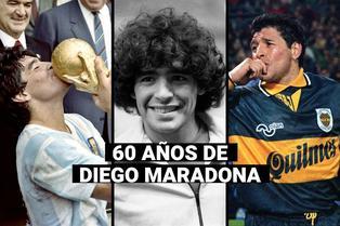 """60 años de Maradona: niño de un barrio pobre convertido en el """"D10S"""" del fútbol mundial"""