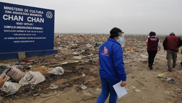 En gran parte del área intangible de la zona arqueológica se advierte desmonte y otros residuos sólidos, que ponen en riesgo a este Patrimonio Mundial de la Humanidad.
