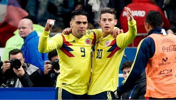 Colombia venció 3-2 a Francia, rival de Perú en el mundial