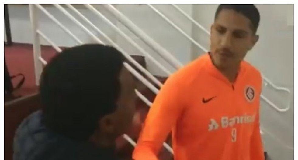 Paolo Guerrero y su afectuoso encuentro en Brasil con Julio César Uribe (VIDEO)