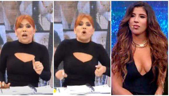 La conductora de televisión, Magaly Medina, no dudó en responderle a Yahaira Plasencia en su programa. (Foto: Captura ATV)