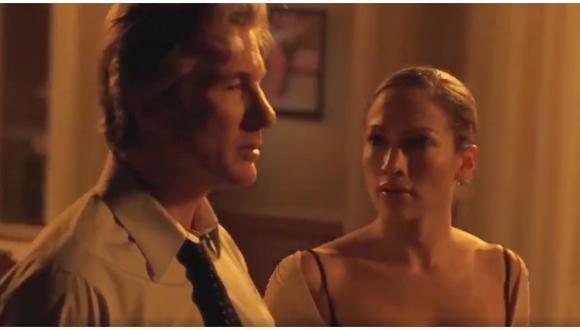 """Jennifer Lopez bailando junto a Richard Gere en la cinta """"¿Bailamos?"""" del 2004. (Foto: Instagram)"""