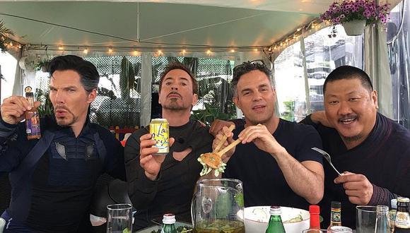 Iron Man, Hulk, Doctor Strange y Wong almuerzan juntos en Avengers: Infinity War (FOTO)