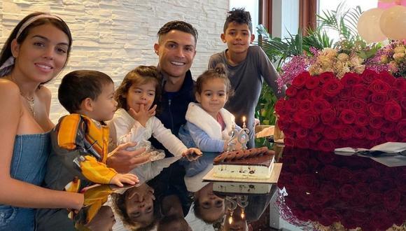 Cristiano Ronaldo dedica romántico mensaje a Georgina Rodríguez en el día de su cumpleaños. (Foto: @georginagio)