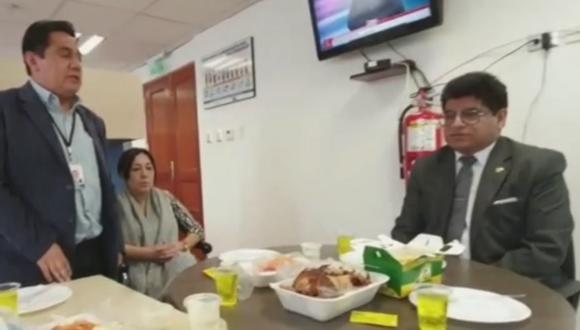 El legislador Carlos Simeón Hurtado señaló que se pretende manchar su honra. (Captura RPP)