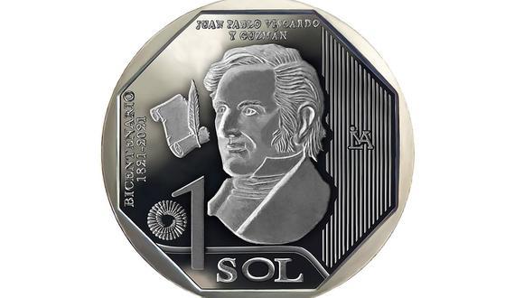 La nueva moneda de colección está dedicada a Juan Pablo Vizcardo y Guzmán. (Foto: BCR)