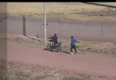 Graban a delincuentes que pretendían asaltar a motociclista en Juliaca