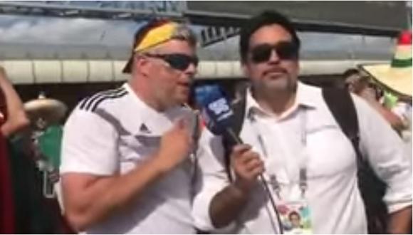 Reportero ecuatoriano insulta a hincha alemán que interrumpió transmisión (VIDEO)