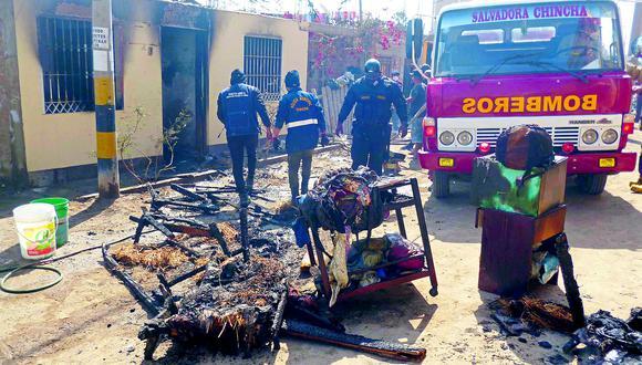 Chincha: Incendio consume vivienda en Sunampe