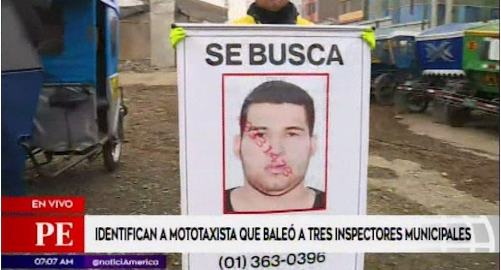Identifican a mototaxista que disparó contra inspectores en Santa Anita (VIDEO)