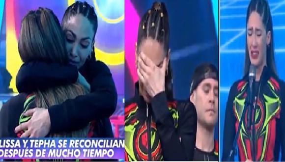 Visiblemente emocionada, Tepha Loza pidió perdón a su hermana. (Captura: AméricaTV)