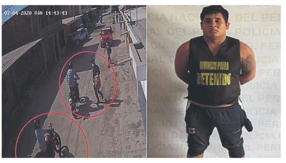 """La Policía lo acusa de pertenecer a la banda """"Los malditos del Bajo Piura"""", cuyos miembros asaltaron un local en julio pasado."""