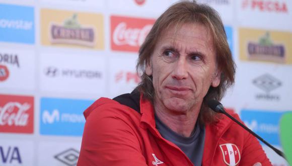 Ricardo Gareca dará la lista de convocados de la selección peruana para las Eliminatorias. (Foto: EFE)