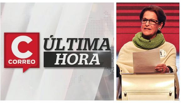 Correo Última Hora: Fiscalía solicitó 36 meses de prisión preventiva para exalcaldesa Susana Villarán