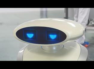 Alemia: robot limpia, canta y distrae a los pacientes covid-19