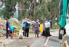 Huancavelica: Restos de obra y basura a la entrada de Pampas