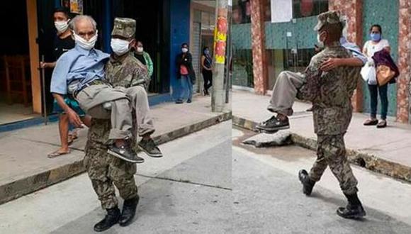 El soldado fue identificado con el nombre de Inuma Arirama. (Foto: Facebook)