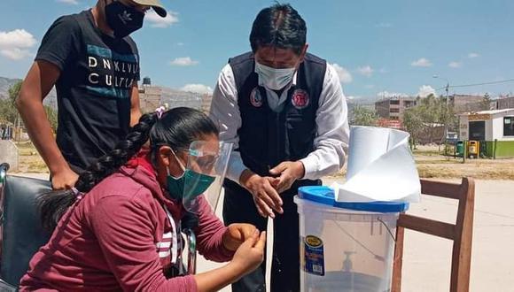 Aplican pruebas rápidas para personas con discapacidad en Huamanga. (Foto: Gore Ayacucho)