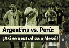 Perú vs Argentina: así marcaron a Messi en la 'bombonera'