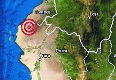 Un fuerte sismo remece a Máncora