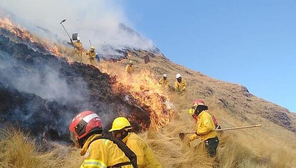 Cusco: Extinguen tres incendios forestales en Cusco