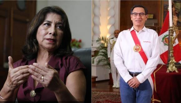 Martha Chávez criticó la informalidad del presidente Martín Vizcarra. Foto: GEC - Presidencia