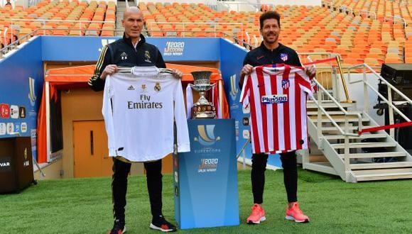 Real Madrid y Atlético de Madrid se disputarán el título de la Supercopa de España. (Foto: AFP)