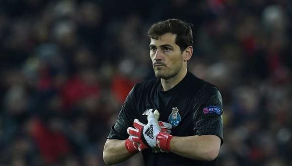 Iker Casillas jugó hasta 2015 en Real Madrid y se retiró con la casaquilla de Porto. (Foto: AFP)