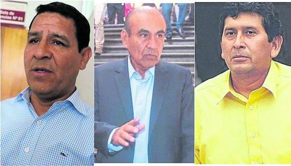Daniel Marcelo, Roger Quispe y Carlos Vásquez fueron acusados por presuntos actos de corrupción y los hallaron responsables.