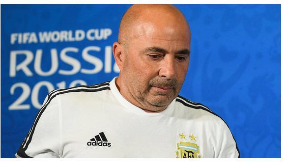 AFA oficializó desvinculación de Jorge Sampaoli como técnico de Argentina