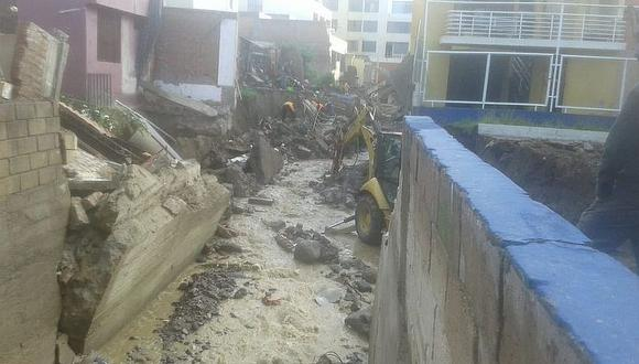 Por precaución destruyen vivienda al borde de torrentera el Chullo