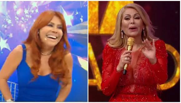 Magaly Medina se ríe del rating de Gisela Valcárcel con 'El Artista del Año'. (Foto: ATV / América TV)