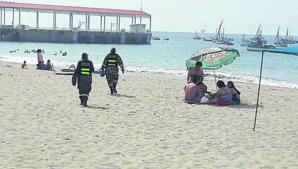 Los Órganos se prepara para recibir turistas. También exhortan a los bañistas a no retirarse las mascarillas.