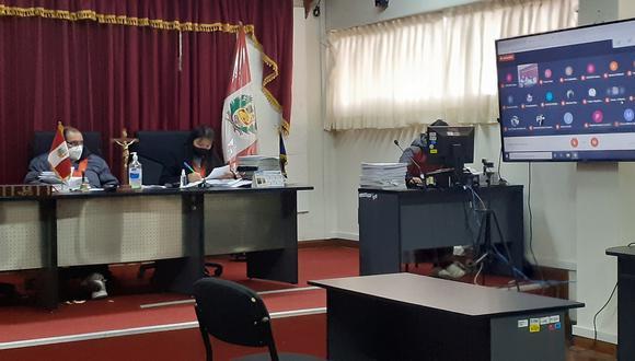 Audiencia en Sala de Apelaciones de la Corte Superior de Justicia de Huancavelica.