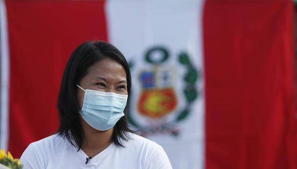 Keiko Fujimori, candidata presidencial por Fuerza Popular.   Foto: GEC