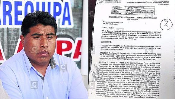 Arequipa: Fiscalía investiga a dirigente por tener terrenos y siete vehículos