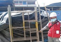 Advierten situaciones de riesgo para obreros en obra de I.E. Los Andes
