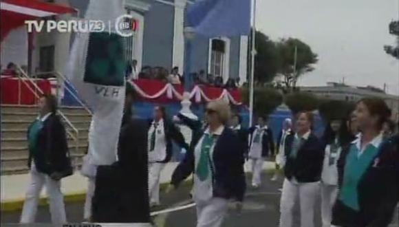 Fiestas Patrias: Pacientes del Larco Herrera realizaron desfile patrio (VIDEO)