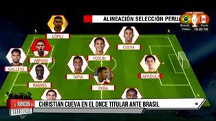 Perú vs Brasil: Conoce la oncena blanquiroja que debutará en la Copa América 2021