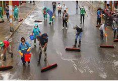 Cañete: cisterna con agua y lejía desinfecta calles de Mala por COVID-19 (FOTOS)