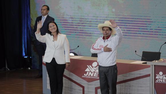 Los candidatos a la presidencia de la República Keiko Fujimori y Pedro Castillo participaron el último 30 de mayo del debate organizado por el Jurado Nacional de Elecciones (JNE) en Arequipa. Fueron seis los bloques temáticos en este encuentro.