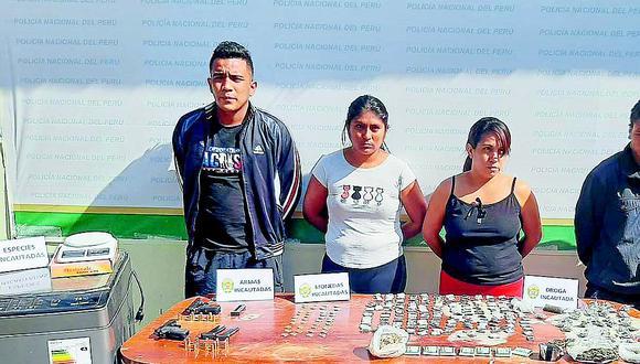 """Piura: Caen cuatro presuntos miembros de la banda """"Los Pumas"""" con droga y armas"""