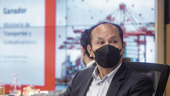 El ministro de Transportes y Comunicaciones, Juan Francisco Silva Villegas. (Foto: Difusión   MTC)
